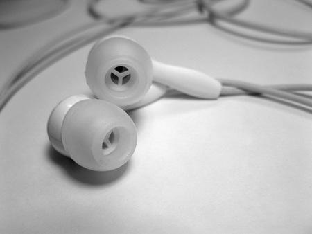 Stereo oortelefoon Stockfoto