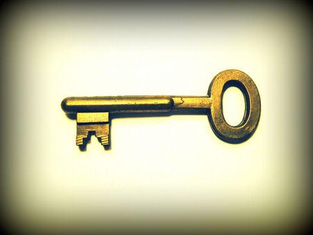Metal key photo