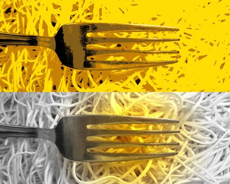 Forks and spaghetti
