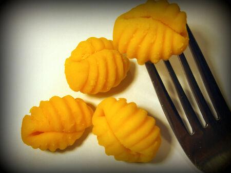 Pumpkin gnocchi pasta photo