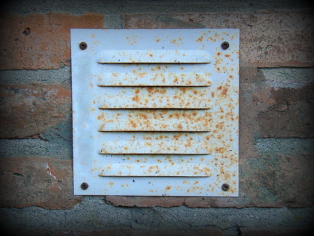 oxides: Vent grating Stock Photo