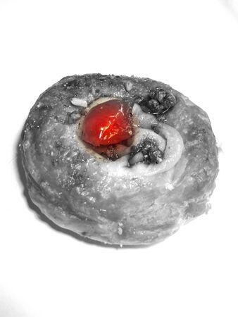 Cherry pastry Stock Photo