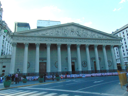Argentina, Buenos Aires - May 12, 2018 - Buenos Aires Cathedral, Argentina`s most important catholic church