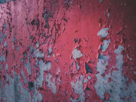 The red old wall cracks