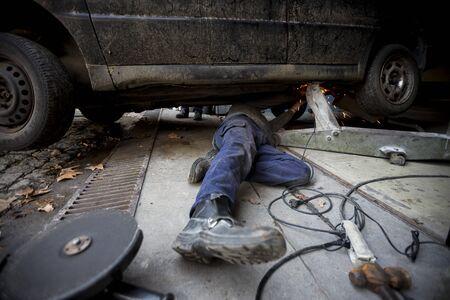 garage: Garage mechanic Stock Photo