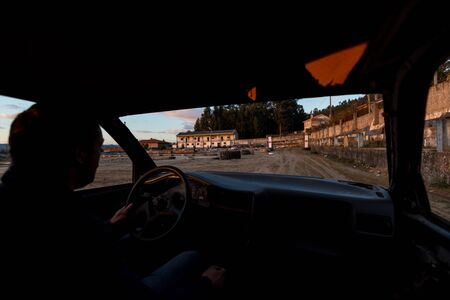 stock car: Amateur Stock car racing in Portugal Stock Photo
