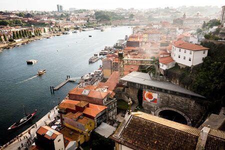 urbanscape: Landscape view of Oporto city, Portugal Stock Photo