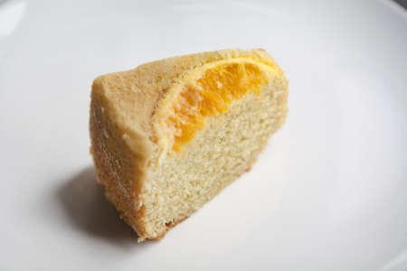 a slice of cake for dessert. photo