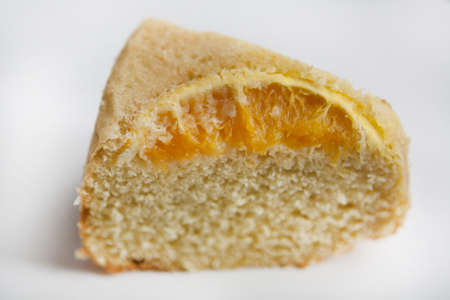 a homemade cake orange for snack or breakfast. photo