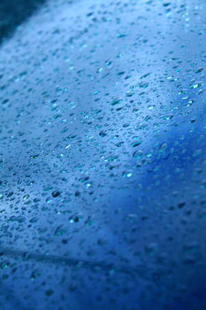 condensate: The beauty of fresh dew drops in a glass. Stock Photo