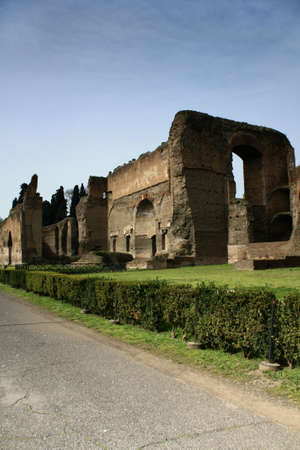 a spa resort in ruins in the large and beautiful Italian capital, Rome. photo