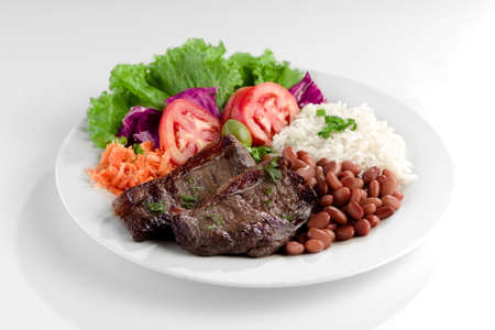 arroz: Plato t?pico de Brasil, arroz y frijoles