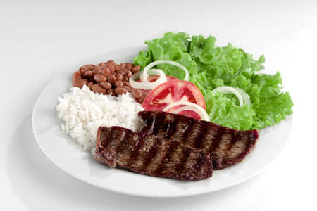 Plat typique du Brésil, du riz et des haricots Banque d'images - 17674790