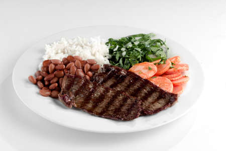 Typical dish of Brazil, rice and beans Imagens