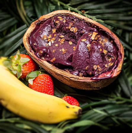 Amazon acai fruit in the pote