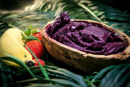 acai: Amazon acai fruit in the pote