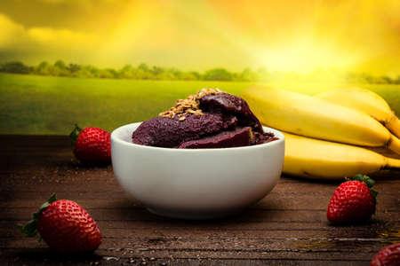 acai berry: Amazon acai fruit in the pote