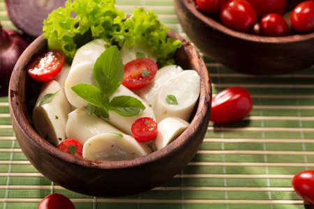 calorie: Palmetto salad, low calorie meal typical of Brazil