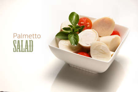 Palmetto salad, low calorie meal typical of Brazil