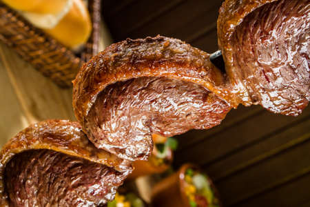 Picanha, 전형적인 브라질 바베큐 고기 스톡 콘텐츠