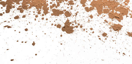 spattered: Texture clay moving in white