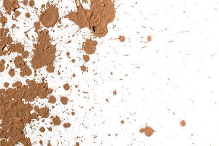 Texture clay moving in white Archivio Fotografico