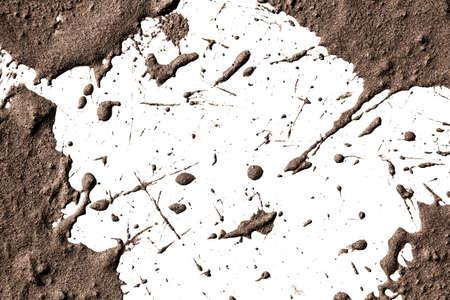 spattered: Arcilla Textura en movimiento en blanco