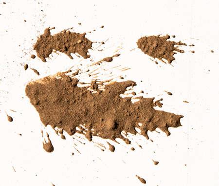 テクスチャの粘土の白の移動 写真素材