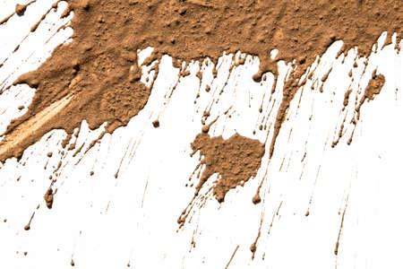 Texture argilla in movimento in bianco Archivio Fotografico - 27683803