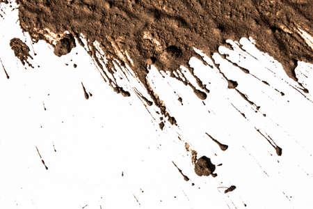 Texture argilla in movimento in bianco Archivio Fotografico - 27683807