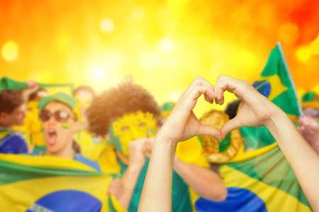 나는 브라질을 사랑합니다 스톡 콘텐츠
