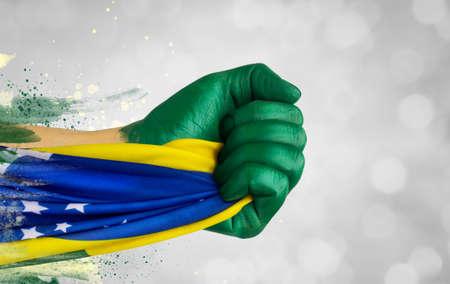 Brazilian fans patriot
