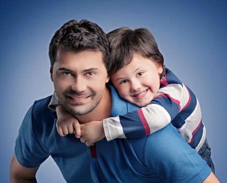 아버지와 아들 스톡 콘텐츠