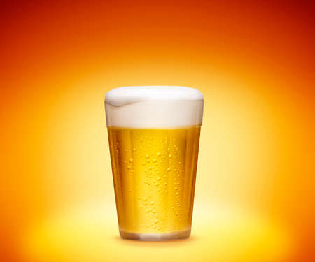 Glass of cold beer