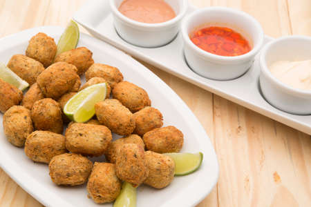 spanish tapas: Cod fritters, traditional Spanish tapas