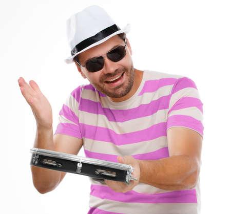 pandero: el hombre típico de carnaval, la samba con pandereta