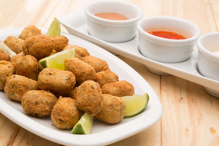 Cod fritters, traditional Spanish tapas