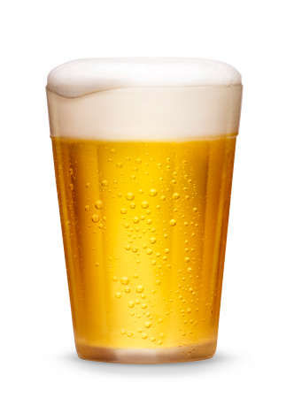 Glass of cold beer Imagens