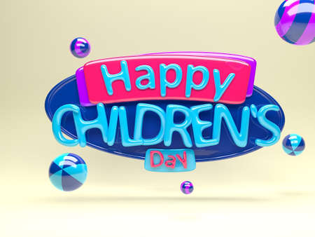 childrens day: Happy childrens day Stock Photo