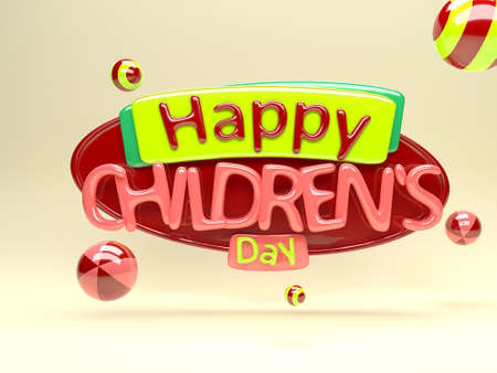 children's: Happy childrens day Stock Photo
