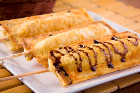 toothpick: delicious crepe for lunch Stock Photo