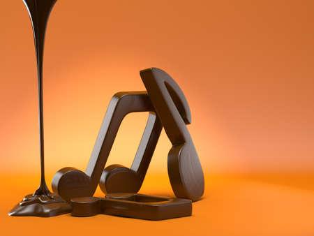 letras musicales: notas musicales del chocolate