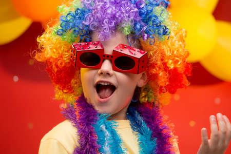 Child having fun at Carnival in Brazil