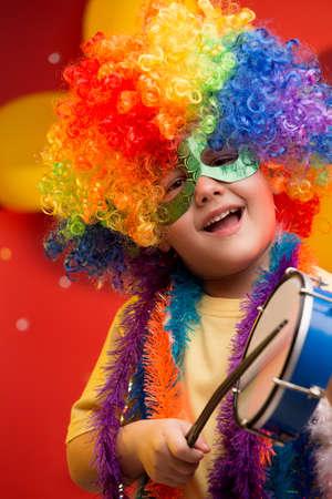 Enfant amuser au Carnaval au Brésil Banque d'images - 45531518