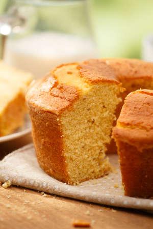 brazilian: Traditional brazilian Fuba cake