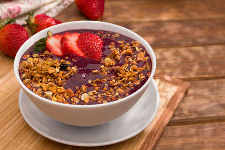 Amazon Acai fruit in the bowl