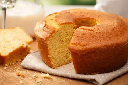 Traditional brazilian Fuba cake