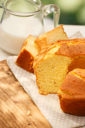 pastel: Traditional brazilian Fuba cake