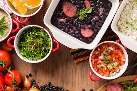 Feijoada, the Brazilian cuisine tradition Archivio Fotografico