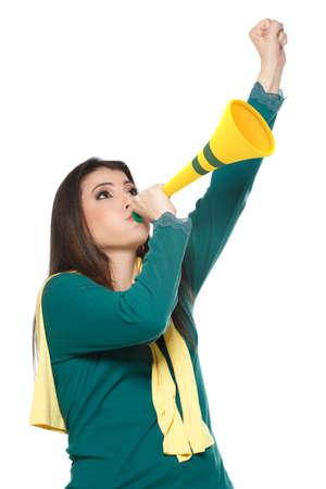 soccer fans: brazilian soccer fans